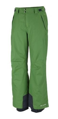 pantalón columbia bugaboo 2 verde ski snowboard hombre
