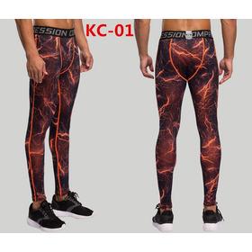 Pantalon Compresion Hombres Fitnnes Culturismo Deportes