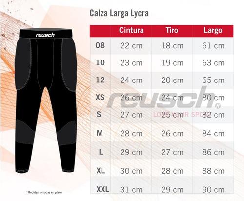 pantalón compresivo arquero reusch con protecciones - tactic