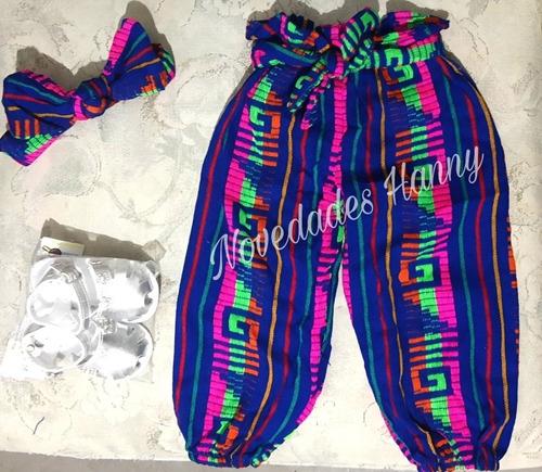 pantalón con diadema cambaya