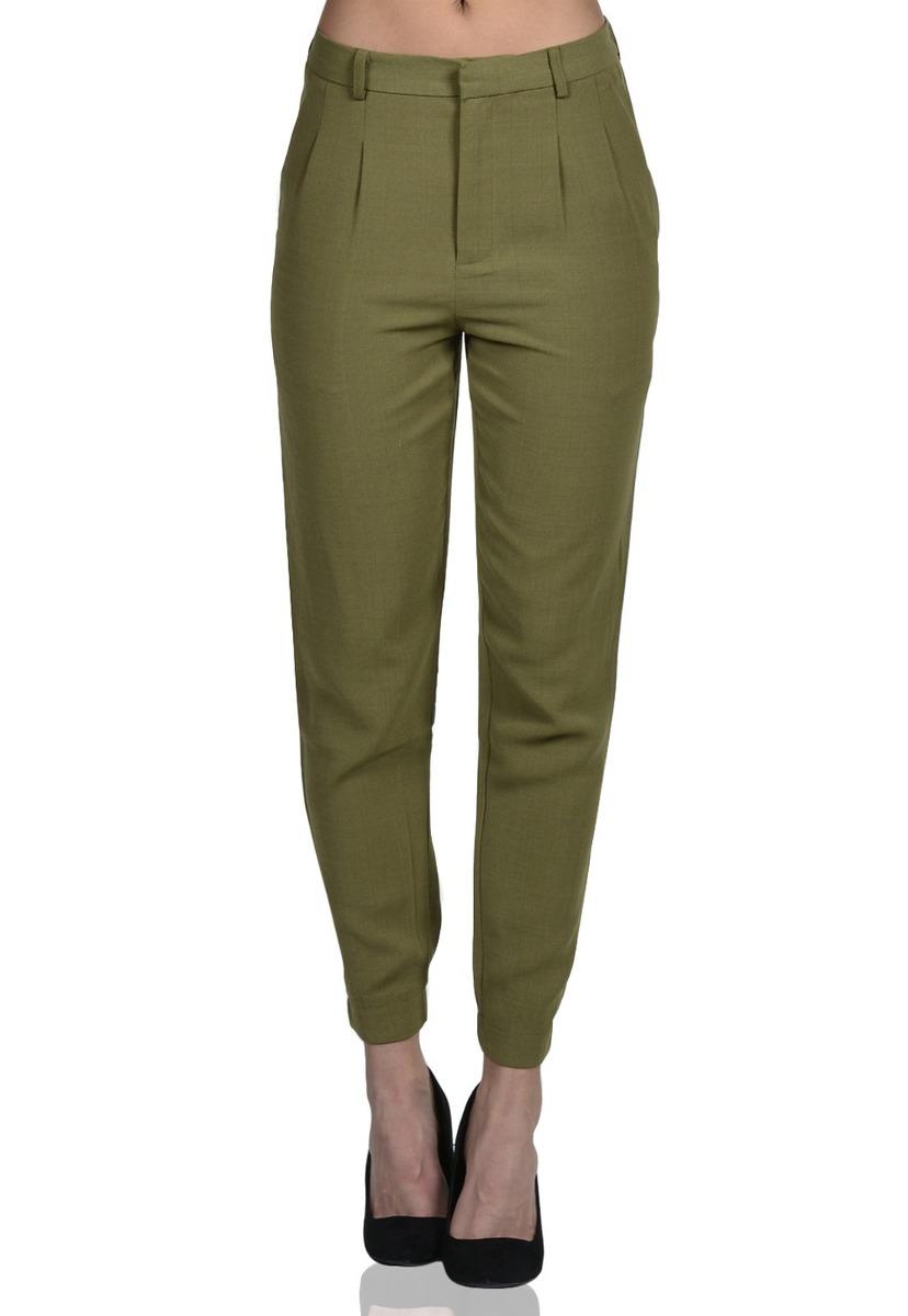 9ad8518f3 Pantalón Con Pinzas De Mujer Exotik Ef173-1110-509 Verde -   46.990 ...