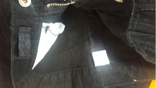 pantalón corderoy nena talle 4 negro