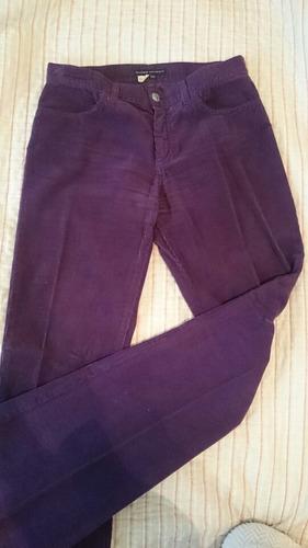 pantalón corte jean de corderoy. sin uso! marca zara