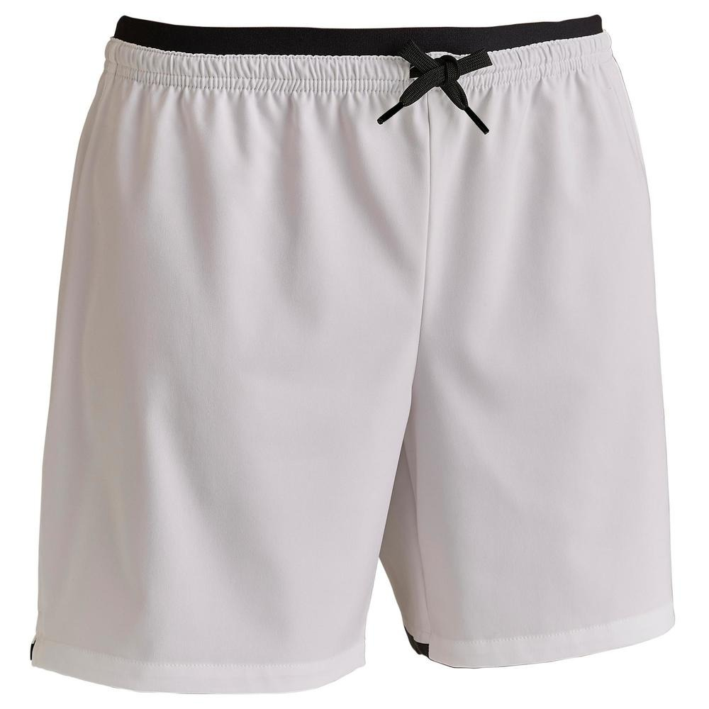 271c5f00c2 Pantalón Corto De Fútbol Mujer F500 Blanco -   1.663