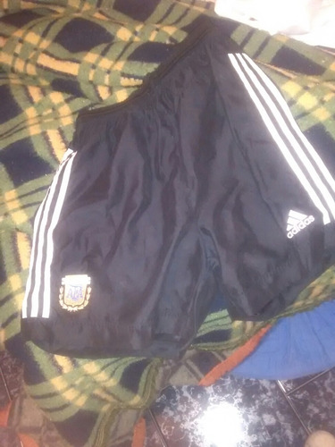 pantalon corto negro selección argentina