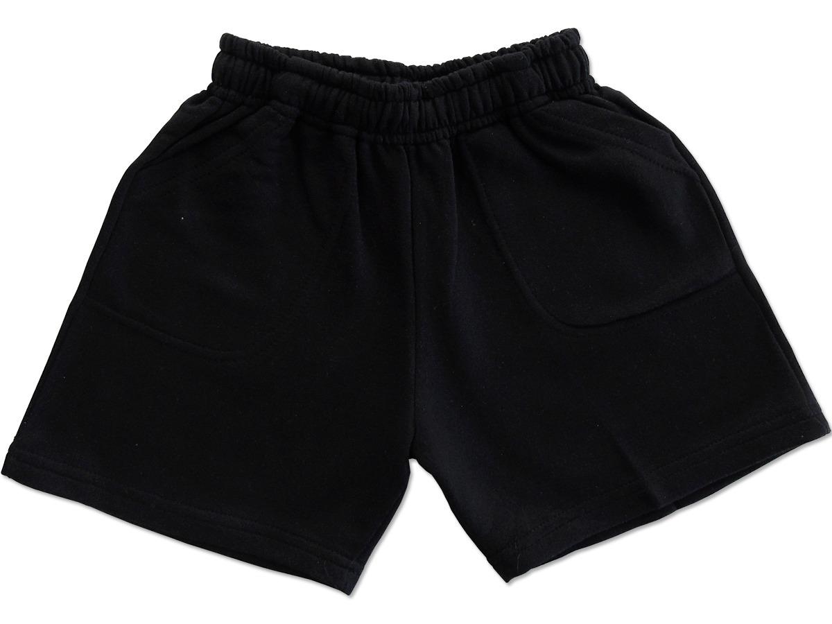 bajo precio 91f20 0c375 Pantalon Corto Short Algodon Negro Talle 6 Niño Nene