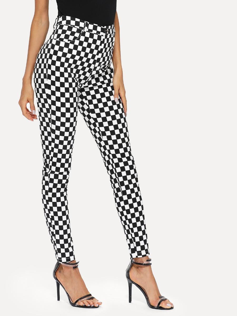 66fbfb493aa Pantalon Cuadros Jeans Dama Pantalones Dama Ropa Mujer -   499.00 en ...