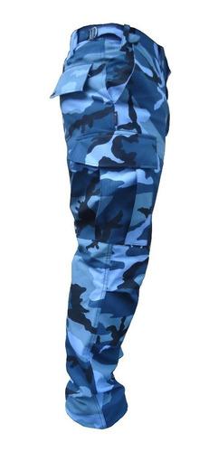 pantalon dama camuflado azul serv. penitenciario bonaerense