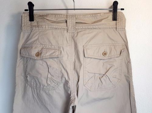 pantalón dama convertible en capri hering 100% algodón