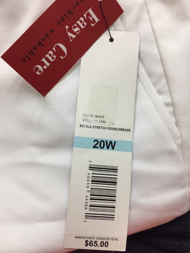 pantalón dama importado talla 20w rafaella blanco
