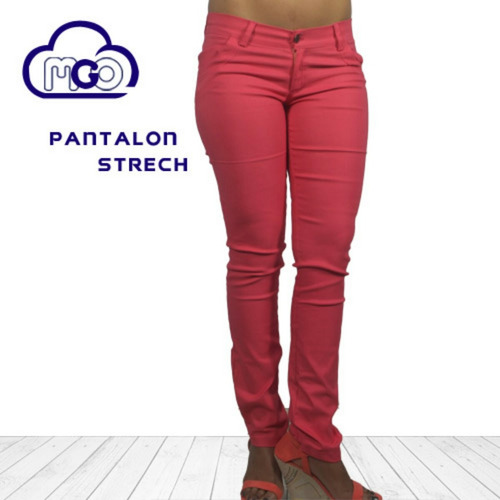pantalón dama jeans strech de colores mgo originales