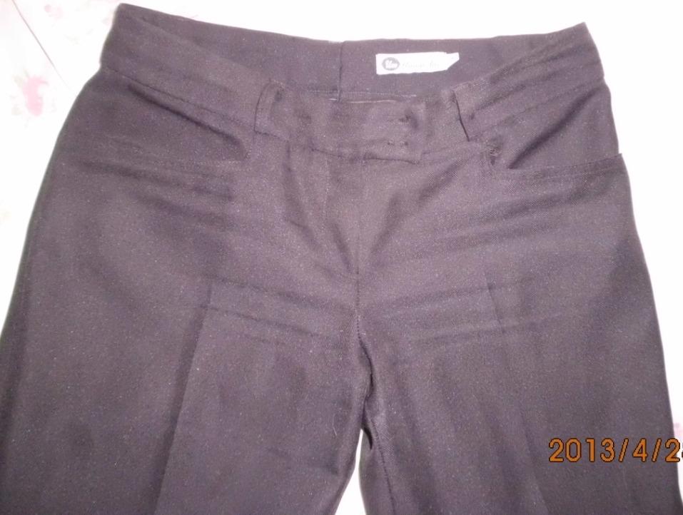 Pantalon Dama Marron 42 Con Bolsillos De Vestir En Gabardina - $ 220 ...
