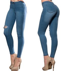 dee59a614 Pantalón Dama Mujer Jeans Ajustado Destroyer Skinny Comodo