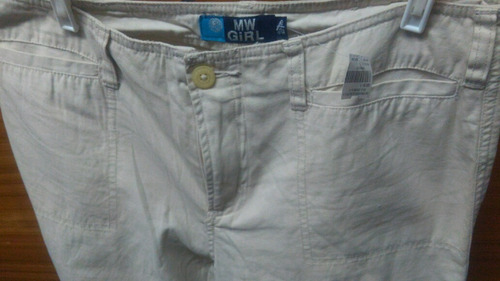 pantalon dama talla 30 color hueso