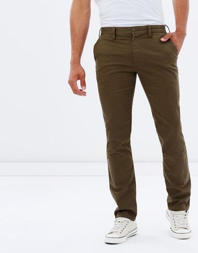 pantalon dc gabardina slim chupin! - talle 32