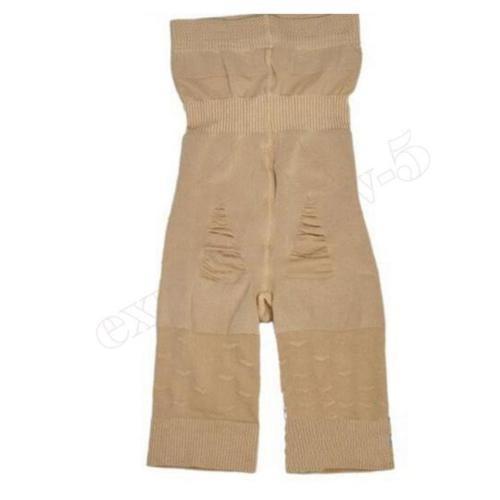 pantalón de algodón de las mujeres cintura... (beige, xl)