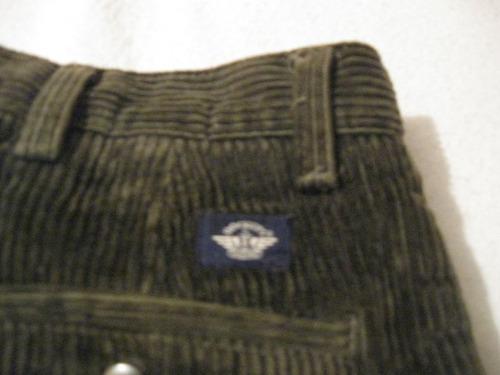 pantalon de cotele dockers talla w38l30  color verde musgo