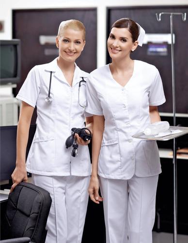 pantalón de enfermera dama blanco tela tergal precio oferta