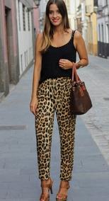 el más nuevo 4a307 39335 Pantalon De Fibrana Chupin Leopardo!!!