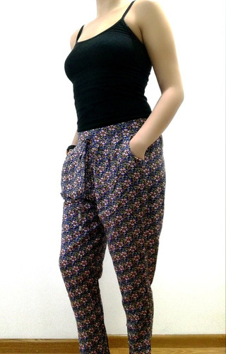 pantalon de fibrana estampados