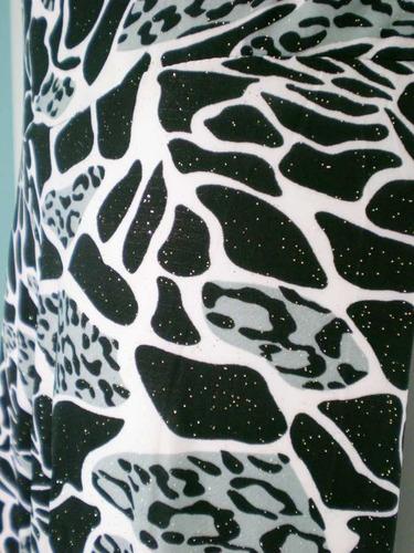 pantalón de fiesta animal print, talla s
