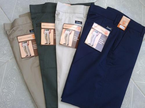 pantalon de gabardina tipo dockers paquete con 3. mayoreo