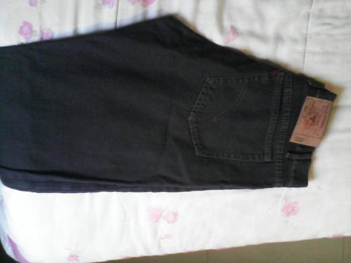 pantalon de hombre en tela de jeans color azul petroleo