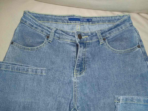 pantalon de jean elastizado t 42 chupin lindo corte!!!!