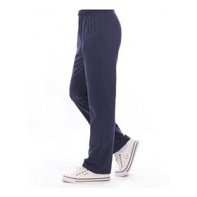 Pantalon De Jogging Frizado , Corte Recto De Algodon