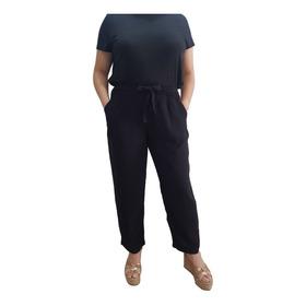 Pantalón De Lino Mujer Talle Grande