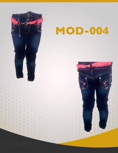 pantalon de mezclilla de moda niña talla 4,6,8,10,12 y 14