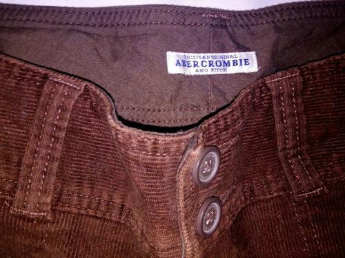 pantalón de pana abercrombie café  para dama envío gratis