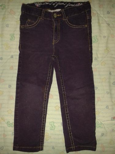 pantalón de pana morado talla de 1 - 2 años