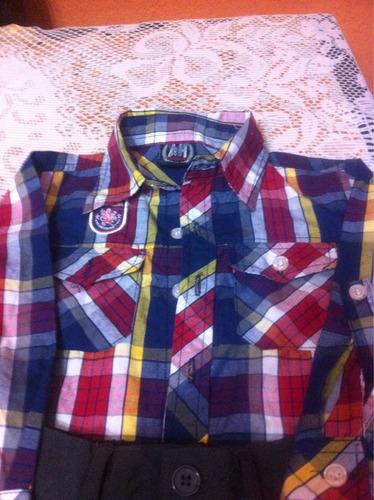 pantalón de poliéster y camisa americana para niño