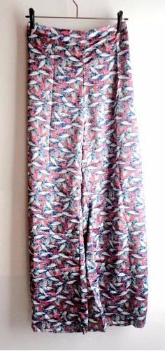 pantalón de raso estampado para fiesta noche