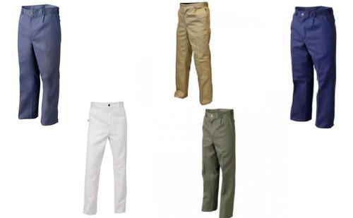 pantalon de trabajo- beige-verde-azul-azulino 38 al 70 talle