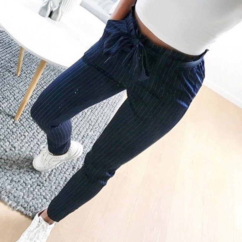 cd15ac00757f3 rayas palazzo zoom vestir y azul pantalón de marino mujer blancas Cargando  aPBOq