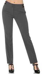 Pantalon De Vestir Barbary Mujer Gris Spandex D 1144
