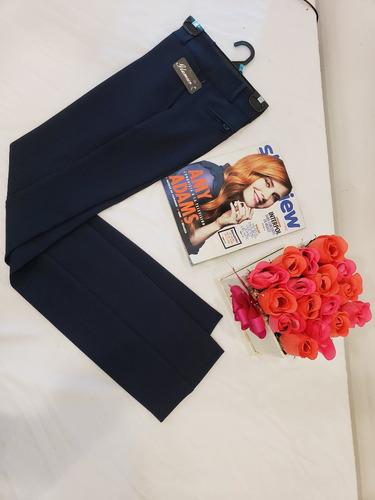 pantalon de vestir negro azul m, gris chocolate marca glamur