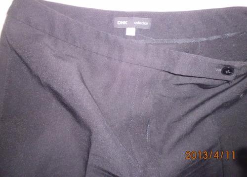 pantalon de vestir negro de dama talle 46 en gabardina nuevo