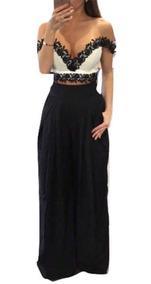 Pantalón De Vestir Para Mujer Holgado Negro Moderno