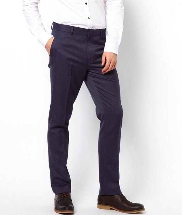 ef31632c11 Pantalon De Vestir S Hombre Azul Slim Fit Envio Gratis -   19.990 en ...