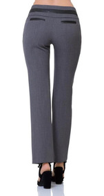 Pantalon De Vestir Sky Blue Mujer Gris Spandex 11035