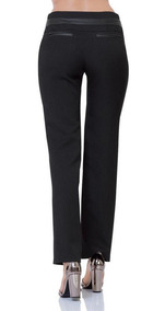 Pantalon De Vestir Sky Blue Mujer Negro Spandex 11035