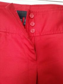 pantalon rojo cintura alta zara