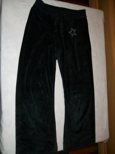 pantalón deportivo negro de dama aterciopelado talle xs