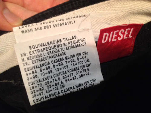 pantalón diésel original de hombre talla 34