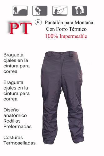 pantalon doble impermeable pt t.42 a.marino c/forro t. pt4