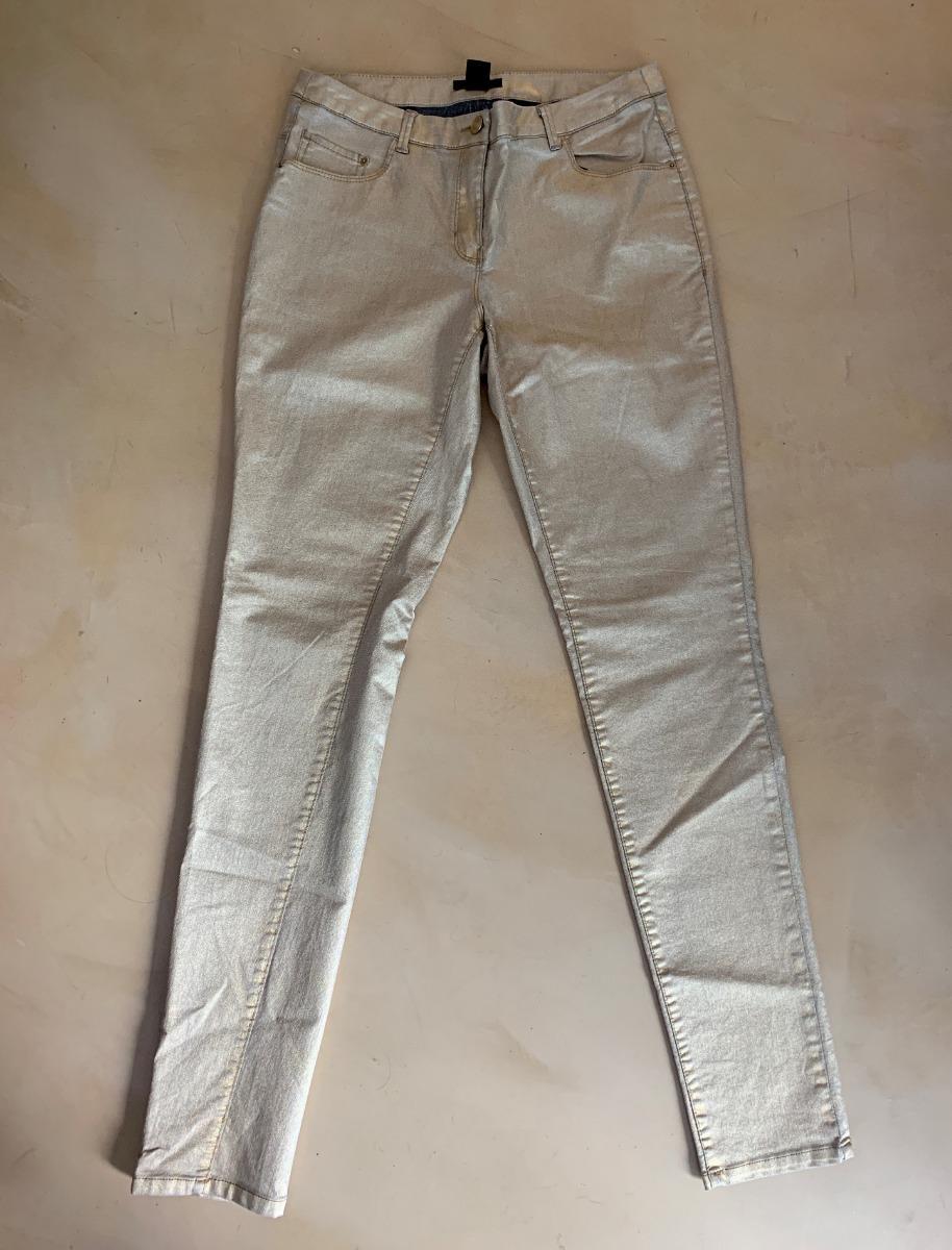 f92fb4170 pantalón dorado de h m para mujer. Cargando zoom.