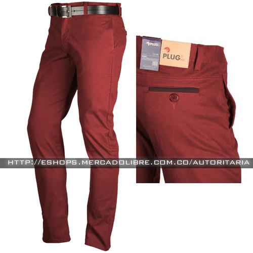 pantalon drill espandex para hombre slim fit, envío gratis